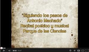 """Los versos de Machado volaron en el auditorio del """"Parque de las Ciencias"""""""