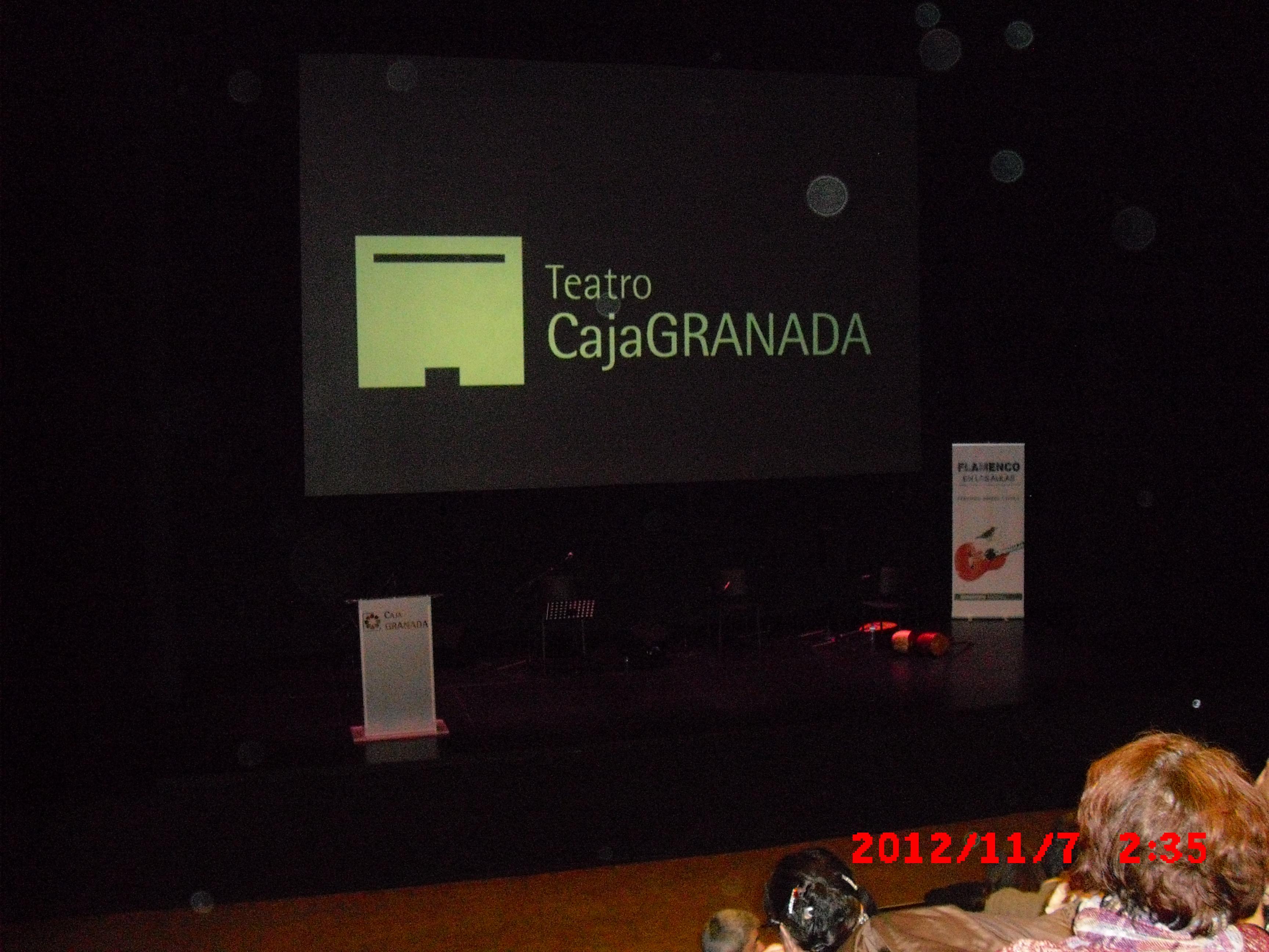 Concierto flamenco de Fernando Barros en el teatro Isidoro Maiquez con los poemas de A. Machadoo