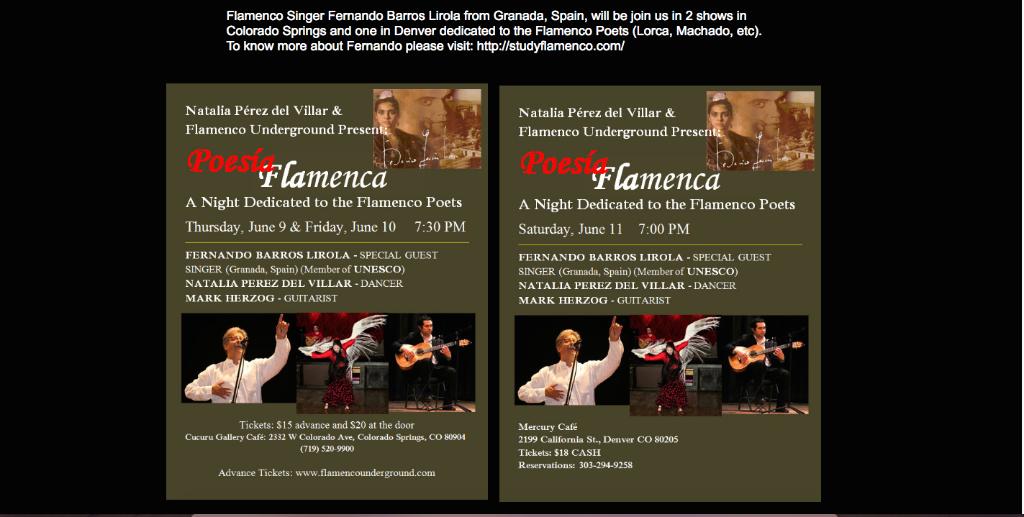 Flamenco con la voz de los poetas en Colorado